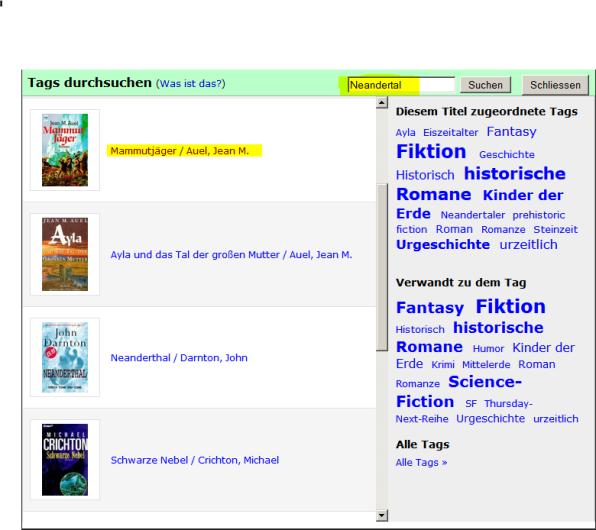 Tag Browser in unserem Katalog. Zum Stöbern oder zur gezielten Suche über den Suchschlitz.