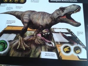 So sehe ich den Dino auf meinem Bildschirm