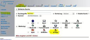 Screenshot OPAC