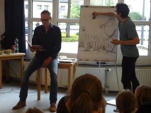 Matze liest und Max zeichnet dazu