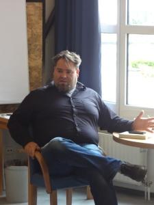 Christian Linker beim Bücherrummel 2015