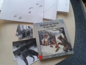 """Für die Geschichte von """"Wanja"""" gab es Tierfotos und Spuren im Schnee wurden zugeordnet."""