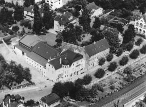 Luftbild vom Kaiserhof um ca. 1960. Abbildung: Stadtarchiv Erkrath.
