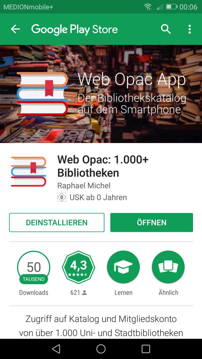 Unser Katalog für die Westentasche: (1) Leserkonto per App